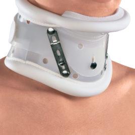 collare cervicale appoggio mentoniero regolazione baionetta