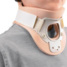 Collare Cervicale Bivalva con Foro Tracheale per Bambini